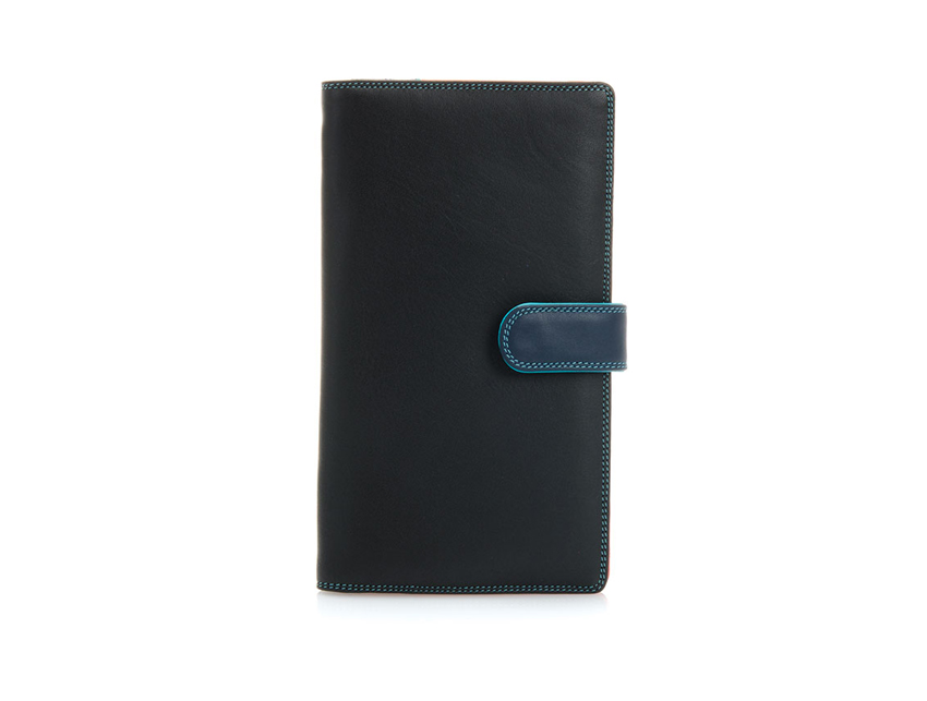 Mywalit Large Tab Tri-fold Wallet Black-Pace 1203-4 front-zoom