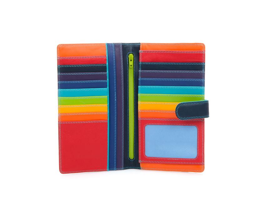 Mywalit Portafoglio grande linea Large Tab Tri-fold Wallet colore Black Pace cod. 1203-4 open-zoom