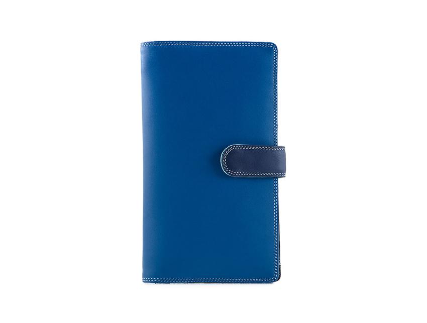 Mywalit Portafoglio grande linea Large Tab Tri-fold Wallet colore Denim cod. 1203-130 front-zoom