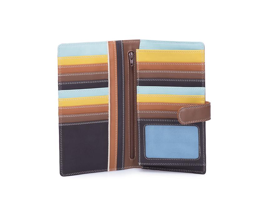 Mywalit Portafoglio grande linea Large Tab Tri-fold Wallet colore Mocha cod. 1203-128 open-zoom