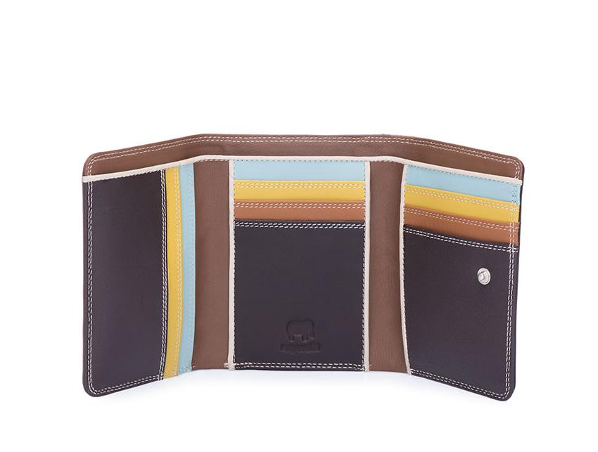 Mywalit Mini Portafoglio pieghevole linea Tri-fold Wallet colore Mocha cod. 106-128 open zoom