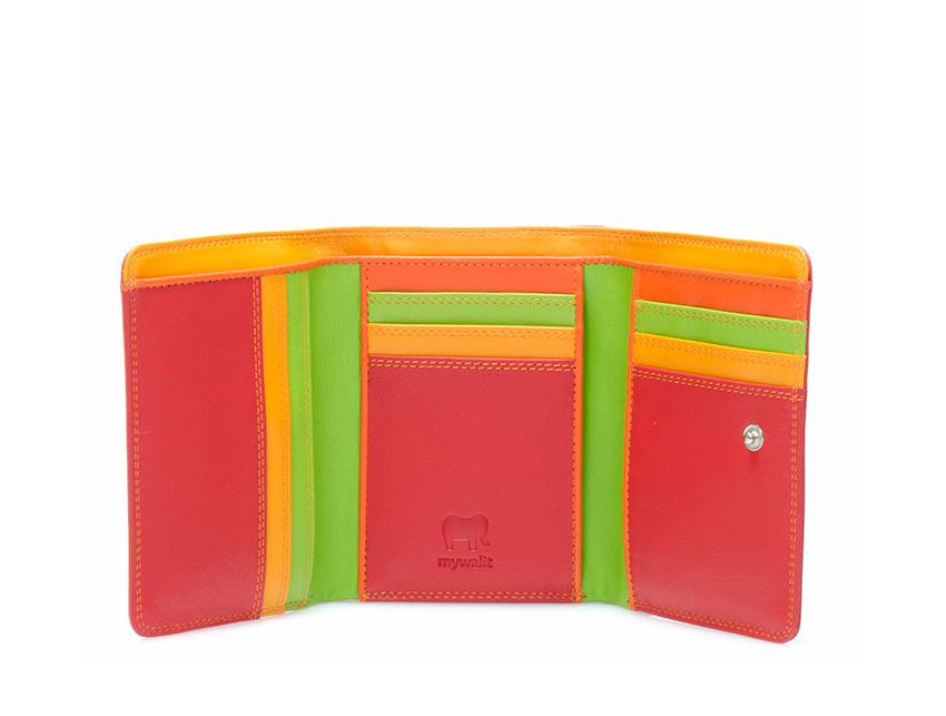Mywalit Mini Portafoglio pieghevole linea Tri-fold Wallet colore Jamaica cod. 106-12 open zoom