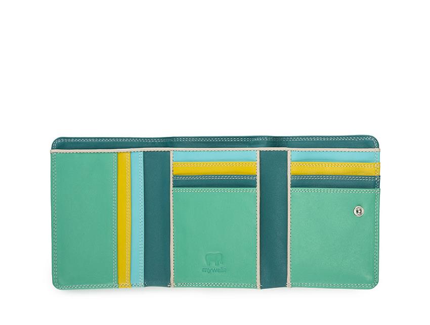 Mywalit Mini Portafoglio pieghevole linea Tri-fold Wallet colore mint cod. 106-129 open zoom