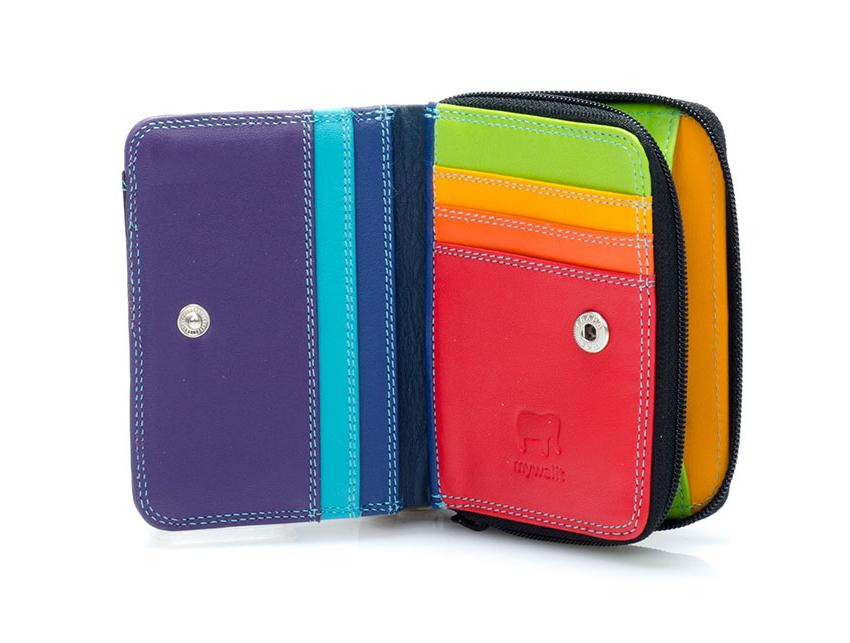Mywalit Portafoglio linea Small Zip Wallet black-pace 226-4