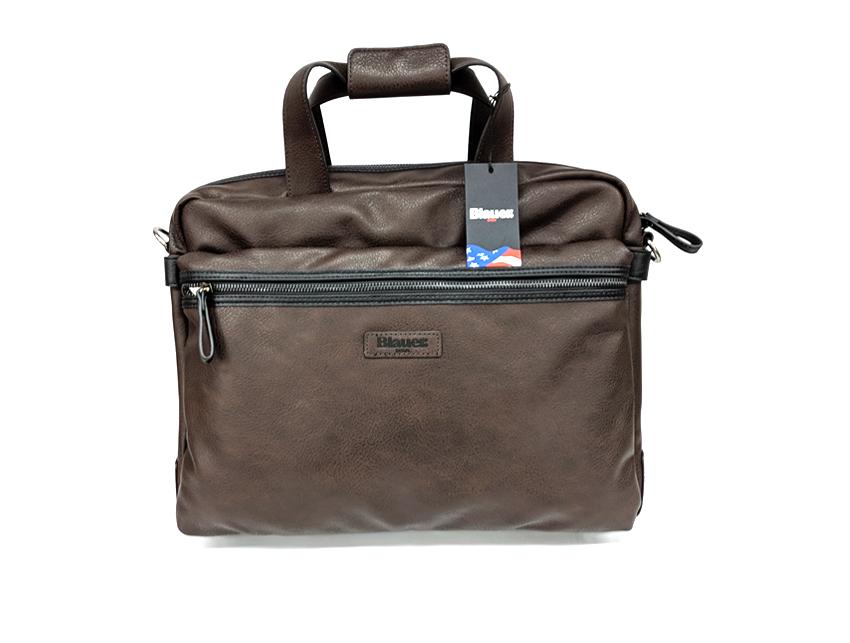 Blauer USA - Cartella porta PC - linea Carry - SKU BLCA00404T - marrone fronte