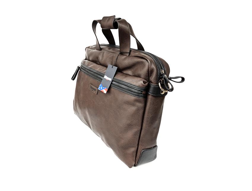 Blauer USA - Cartella porta PC - linea Carry - SKU BLCA00404T - marrone lato