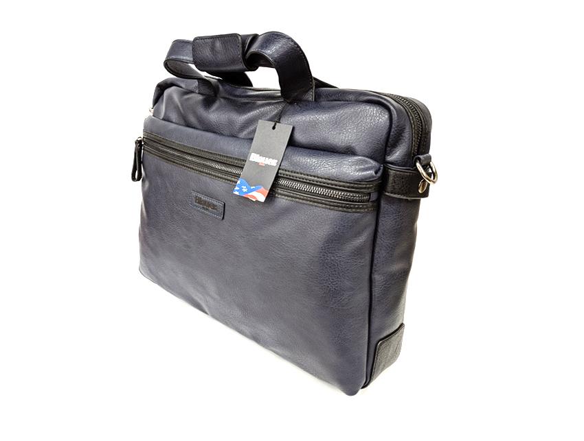 Blauer USA - Cartella porta PC - linea Carry - SKU BLCA00404T - navy lato