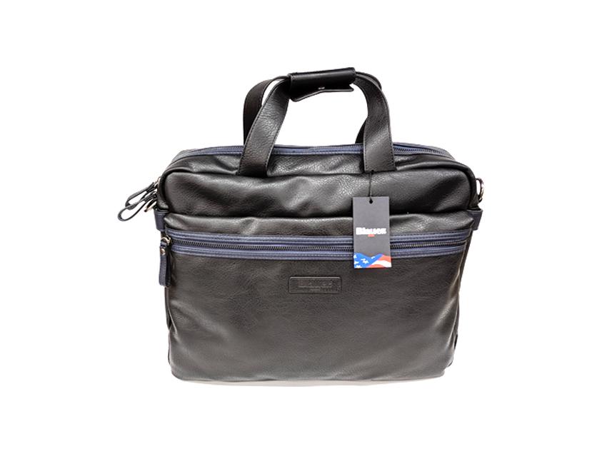 Blauer USA - Cartella porta PC - linea Carry - SKU BLCA00404T - nero fronte