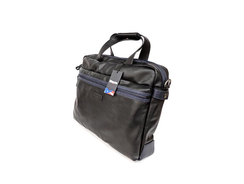 Blauer USA - Cartella porta PC - linea Carry - SKU BLCA00404T - nero lato