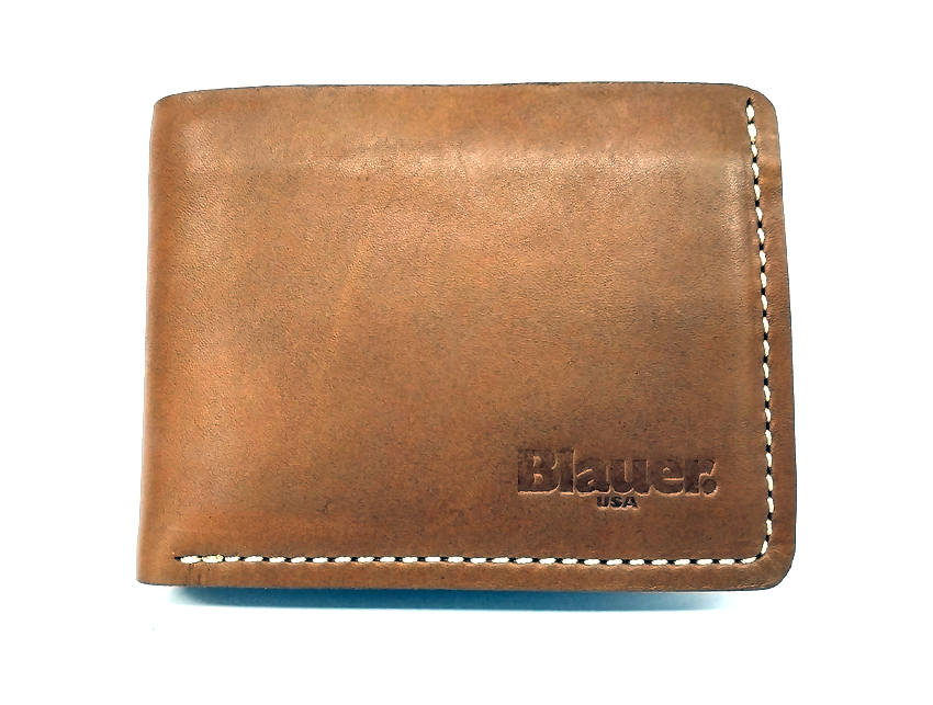 Blauer USA - Portafogli Uomo - linea Rawy - SKU BLPU00297M tan fronte