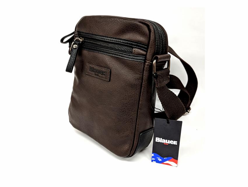 Blauer USA - Tracolla Uomo - linea Carry - SKU BLBO00409T marrone lato