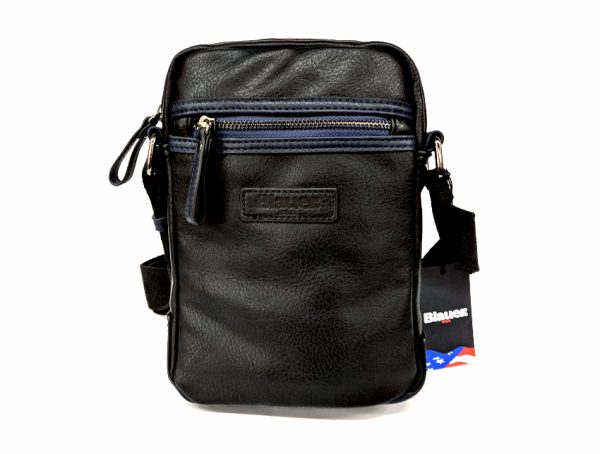 Blauer USA - Tracolla Uomo - linea Carry - SKU BLBO00409T nero fronte