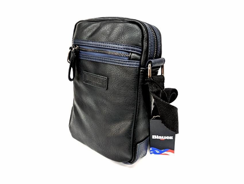 Blauer USA - Tracolla Uomo - linea Carry - SKU BLBO00409T nero lato