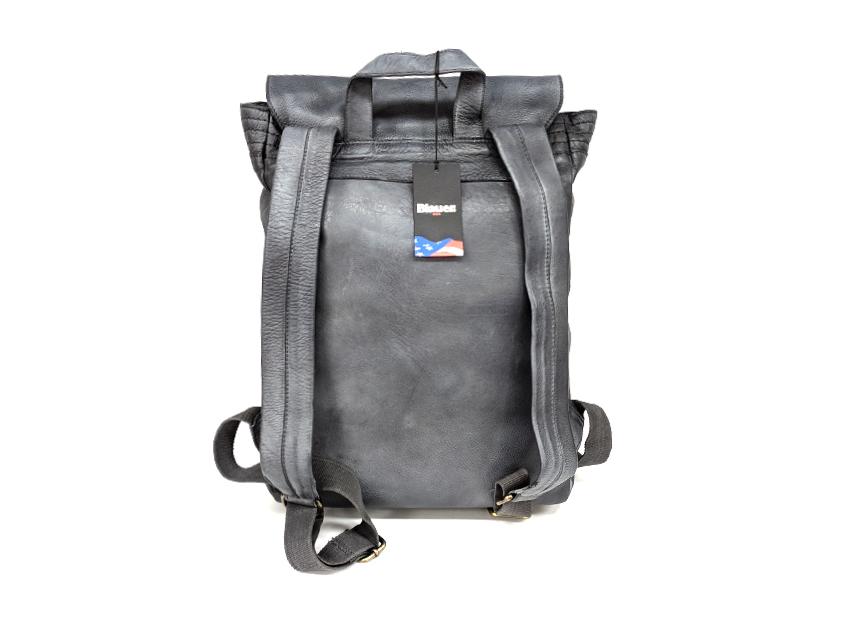 Blauer USA - Zaino in pelle - linea Rivy - SKU BLZA00362M -grigio-retro