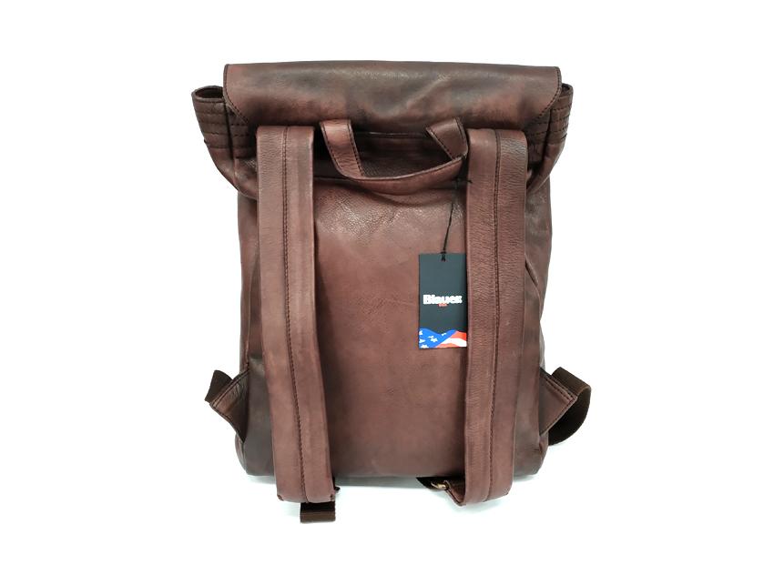 Blauer USA - Zaino in pelle - linea Rivy - SKU BLZA00362M -marrone-retro