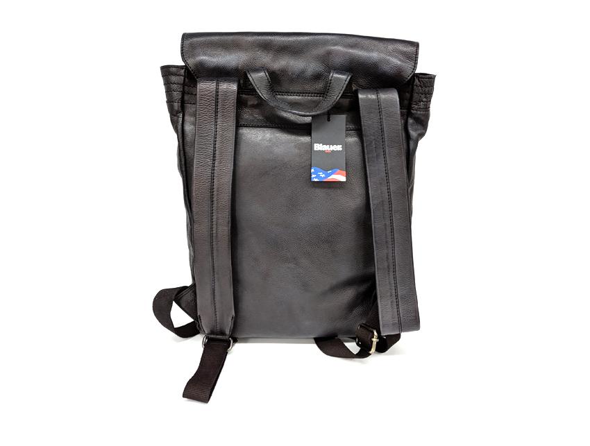 Blauer USA - Zaino in pelle - linea Rivy - SKU BLZA00362M -nero-retro