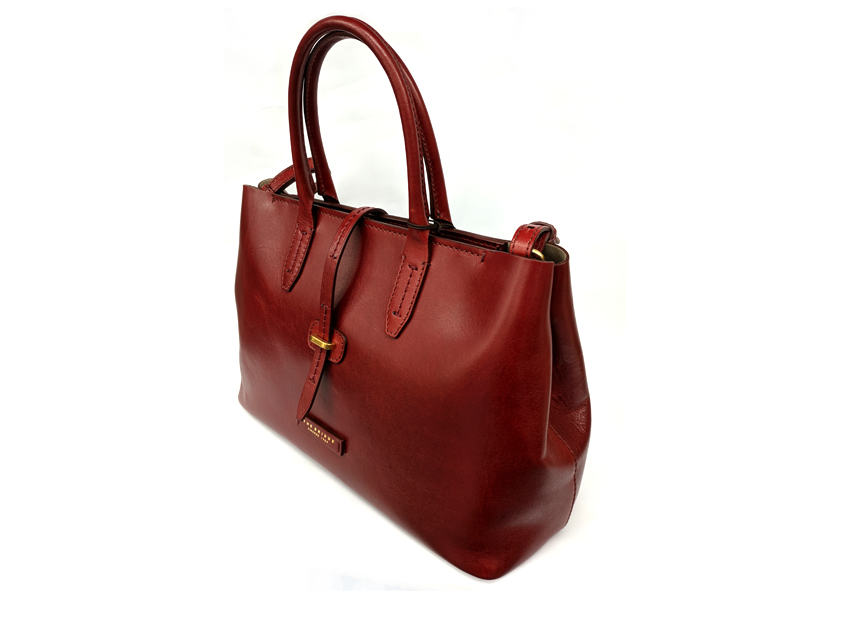 The Bridge - Borsa Donna - linea Florentin - SKU 04131701 rosso lato