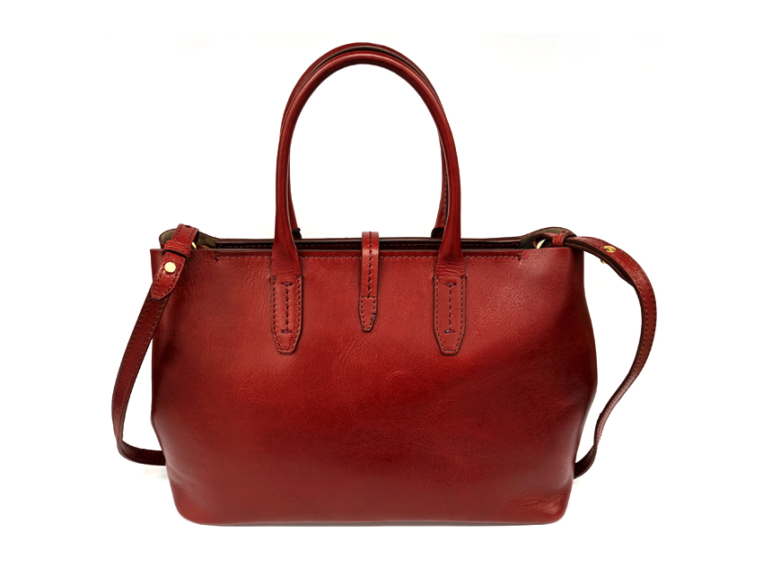 The Bridge - Borsa Donna - linea Florentin - SKU 04131701 rosso retro