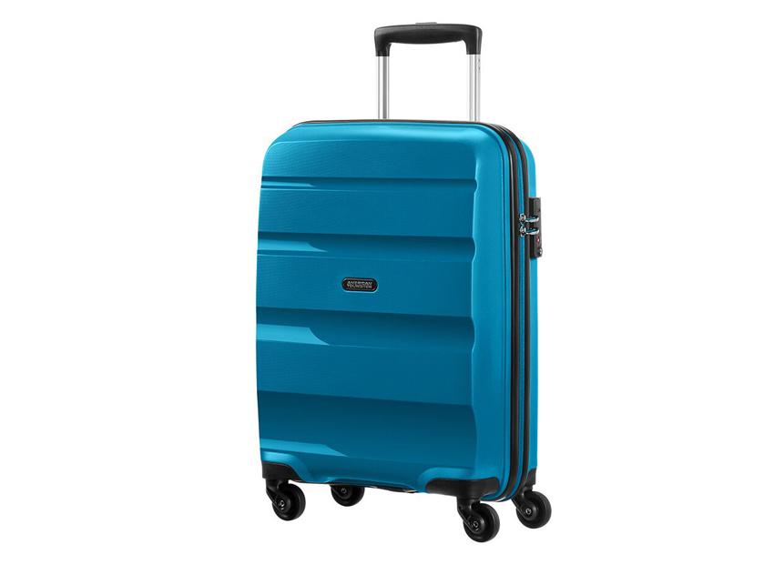 American Tourister - Spinner 55cm - Bon Air - SKU 59422 fronte azzurra