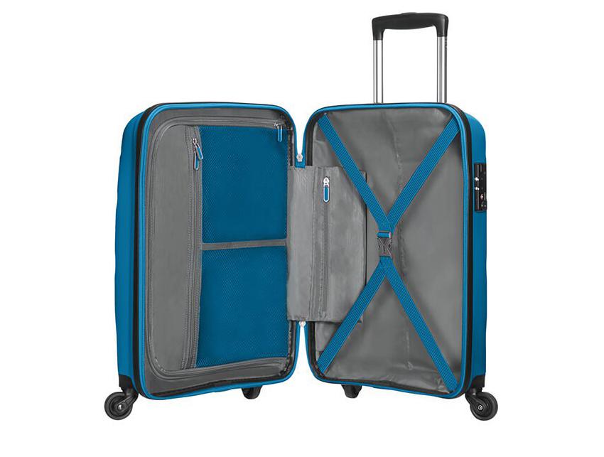 American Tourister - Spinner 55cm - Bon Air - SKU 59422 interna azzurra
