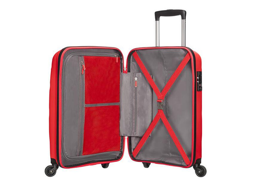 American Tourister - Spinner 55cm - Bon Air - SKU 59422 interna rossa