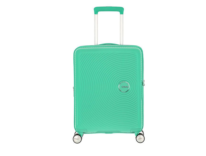 American Tourister - Spinner 55cm - Soundbox - SKU 88472 celeste fronte