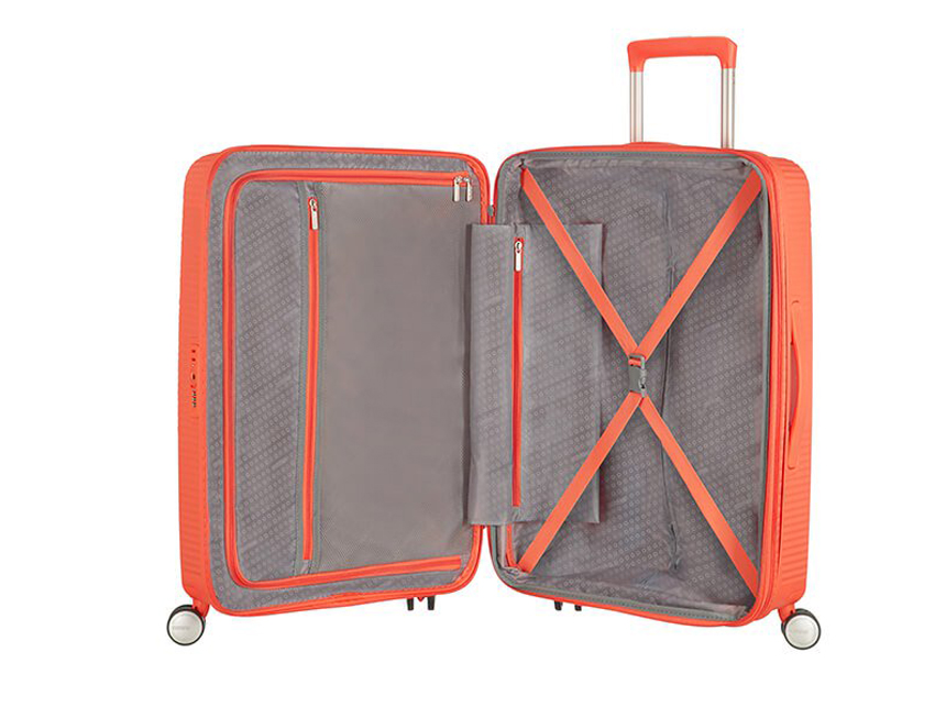 American Tourister - Spinner 67cm - Soundbox - SKU 88473 interna arancio