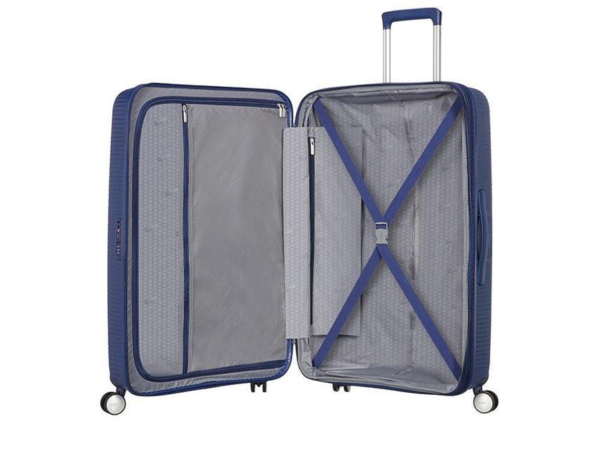 American Tourister - Spinner 67cm - Soundbox - SKU 88473 interna blu
