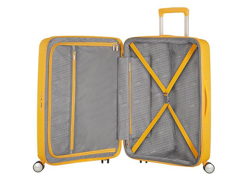 American Tourister - Spinner 67cm - Soundbox - SKU 88473 interna gialla