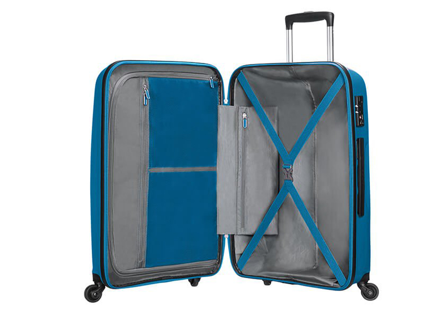 American Tourister - Trolley - Bon Air - SKU 59423 interna azzurra