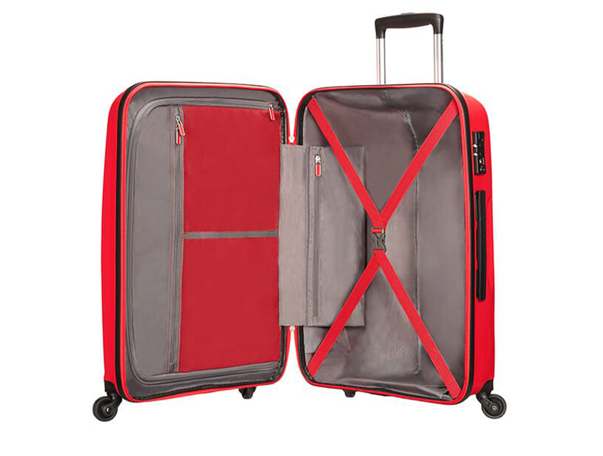 American Tourister - Trolley - Bon Air - SKU 59423 interna rossa