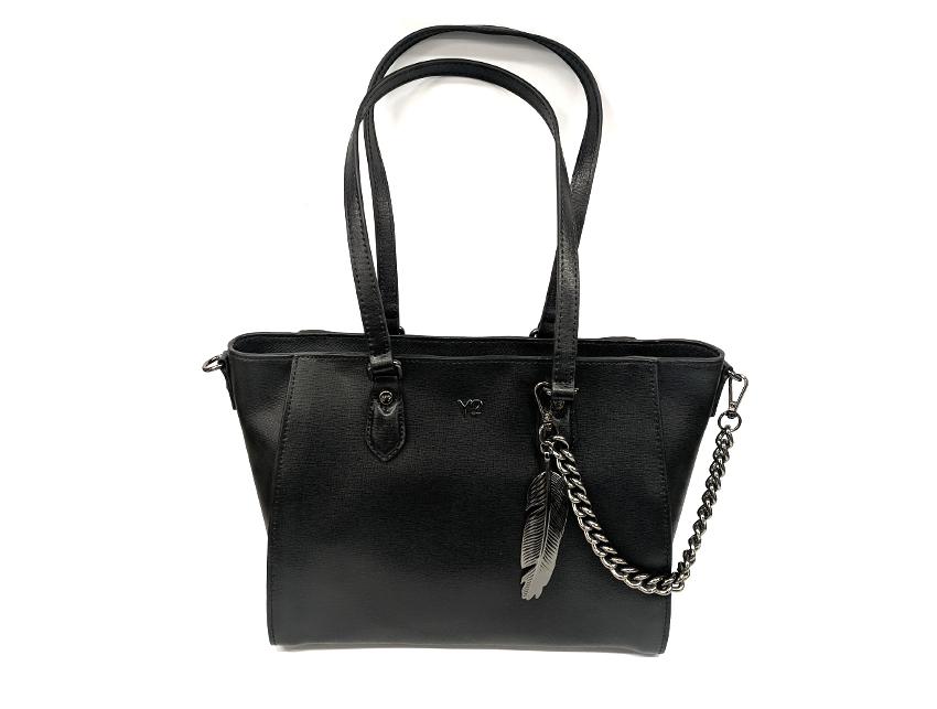 Ynot - Shopping Bag - New Saffiano - SKU SAF-01 nero fronte