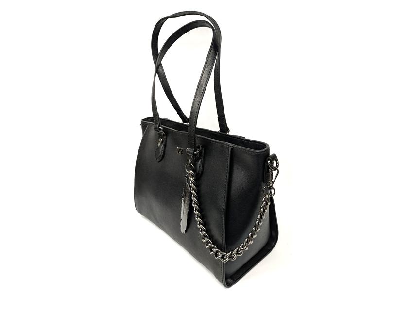 Ynot - Shopping Bag - New Saffiano - SKU SAF-01 nero lato