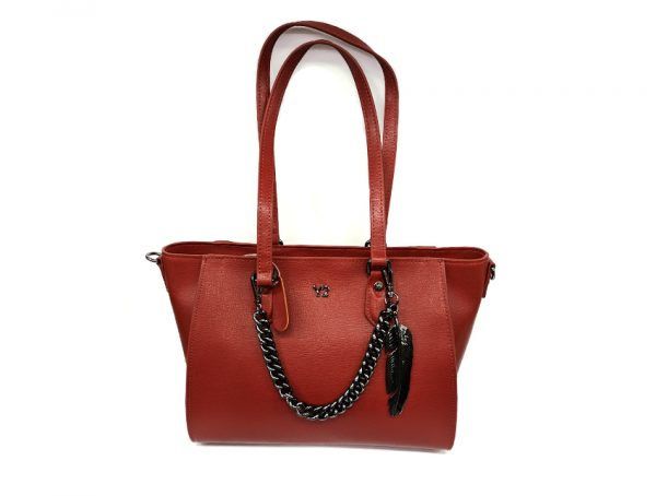 Ynot - Shopping Bag - New Saffiano - SKU SAF-01 rosso fronte