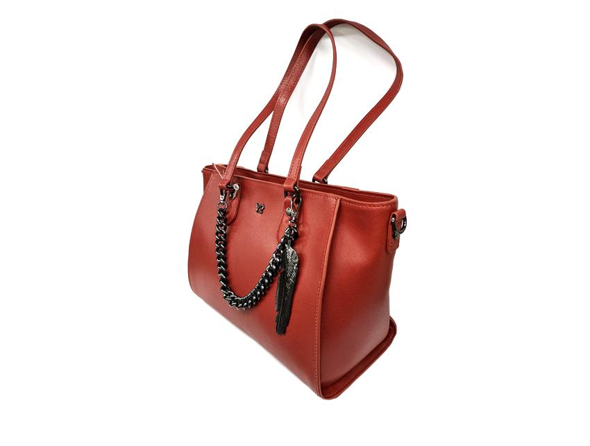 Ynot - Shopping Bag - New Saffiano - SKU SAF-01 rosso lato