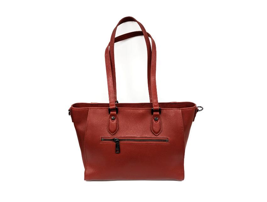 Ynot - Shopping Bag - New Saffiano - SKU SAF-01 rosso retro