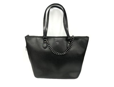 Ynot - Shopping Bag - New Saffiano - SKU SAF-05 nero fronte