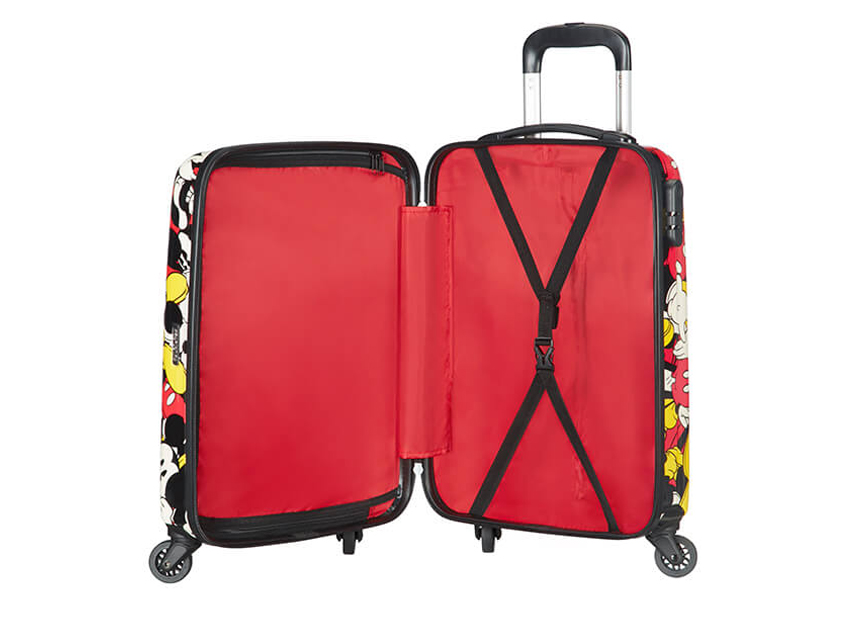 American Tourister Trolley (4 ruote) 55cm Disney Legends 92699-5725 topolino + interna