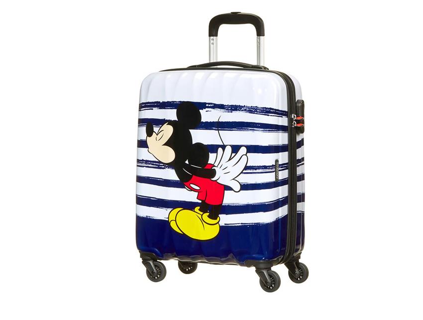 American Tourister Trolley (4 ruote) 65cm Disney Legends 64479-6975 topolino bacio fronte