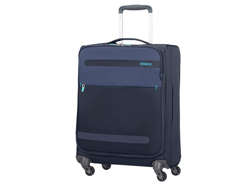 American Tourister - Trolley 55cm - Herolite - SKU 80371fronte blu