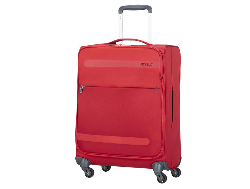 American Tourister - Trolley 55cm - Herolite - SKU 80371fronte rossa