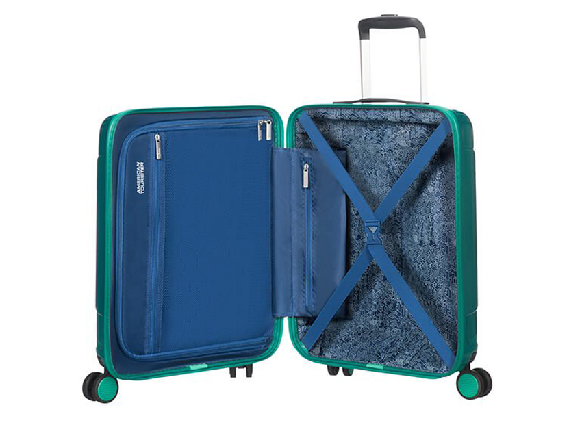 American Tourister - Trolley 55cm - Modern Dream - SKU 110079 interno azzurra
