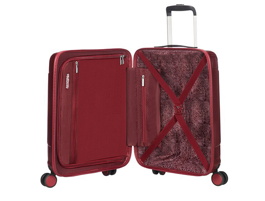 American Tourister - Trolley 55cm - Modern Dream - SKU 110079 rossa interna